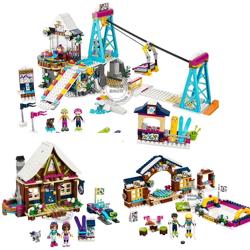 Girls Building Toys Friends Snow Resort Ski Lift Vacation Girls DIY Toys Children Birthday Xmas Girls